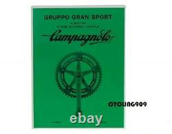 Nos 1980 Campagnolo Gran Sport Road/touring Bicycle Crank Set 53/42 Anneaux Vtg