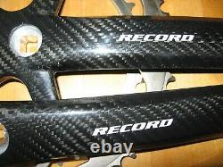 Nos Campagnolo Record Carbon Kurbeln Crankset 175 MM Rare Première Édition 2002/03
