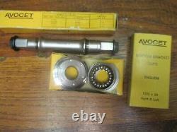 Nos Vintage Avocet 170l 5 Bolt 144 Bcd Crank Arm Set No3 Spindle Tasses Anglaises