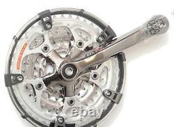 Nouveau Nos Shimano Stx Rc Fc-mc33 Manivelle Set 42 / 32 / 22 Dent 170mm Avec Garde
