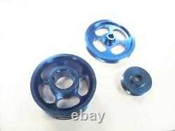 Obx Racing Sports Blue Crank Pulley Set Pour 1986-1992 Toyota Supra 7m-ge/gte