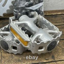 Old School Bmx Crank Set Sr Apex 170mm Single Fixie Lot Gold Wolf Dent 42t USA