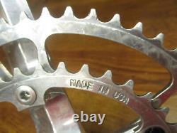 Rare Vintage Samson 172.5l 130 Bcd 53/39t Carré Taper Poli Silver Crank Set