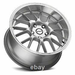 Shift Crank Wheels 17x7.5 (30, 5x114.3, 73.1) Silver Rims Set Of 4