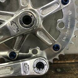Shimano 600 Arabesque Crank Set Lot One Key Old Bmx Gt Mongoose Diamond Retour