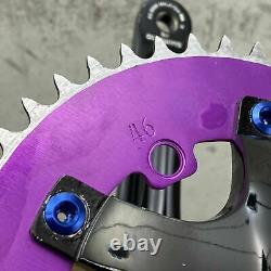 Shimano Alfine Fc-s500 Manivelle Set Bmx Fixie 170 Pro Neck Purple Blue Pedals S0