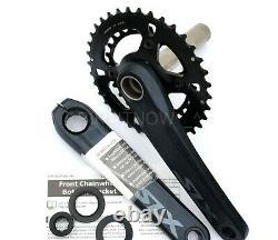 Shimano Slx Crank Set 2x 12-speed 175mm Fc-m7120-b2 Boost 36-26 Dents Noires