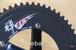 Sugino 75 DD 2 (direct Drive) Track Crank + Chainring Set Noir / Silver Zen