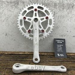 Suntour VX Crank Set Raw 43t Chain Wheel 3pc Old School Bmx Nouveaux Boulons