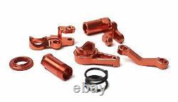 Traxxas Slash 4x4 4wd Red Aluminum Steering Linkage Bell Crank Set Servo Saver