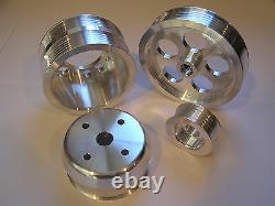 Ud Underdrive Crank Pulley Set S'adapte 93-95 Mazda Rx7 Rx-7 Rx 7 1.3l Turbo Fd3s