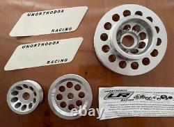 Ur Underdrive Cran Pouley Set Fits 01-05 Honda CIVIC DX Ex LX Em2 Es1 2 D17a1