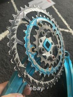 Vintage Kooka 94/58 Crank Arm Set Bleu