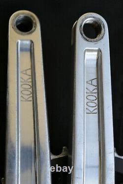 Vintage Kooka Forged 110/74 Bcd Carré Taper Crank Set