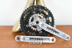 Vintage Race Face Forged Silver Crank Set Vtt Bike 170mm Triple Chain Ring