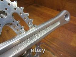 Vintage Stronglight 170l 52/42t Drillium Square Taper Crank Set Français Bb Vgc